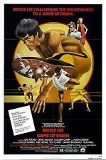 Vintage Bruce Lee Game of Death Kung Fu Movie Poster A3/A2/A1 Print