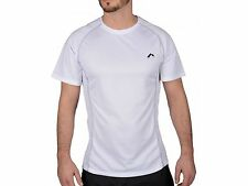 More Mile Mesh Panelled Short Sleeve Mens Running Fitness Gym Top Tee Shirt