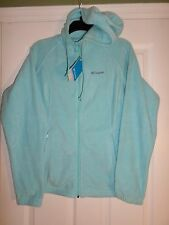 Columbia Fleece Hoodie/Jacket Zip-Soft-Embroidered-Blue  Size M Women's  L@@K!