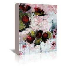 Americanflat Eruptus Floral by Annie Rodrigue Painting Print on Wrapped Canvas