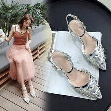 Fashion Ladies Peep Toe Sandal Patent Leather Wedge Heels Ankle Strap Shoes Size
