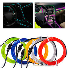 12V EL-Wire Flexible Car Interior Decor Fluorescent Neon Strip Cold light Tape
