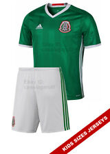 Mexico Home Kids Youth Jersey with Shorts Copa America Niños Green Soccer Adidas