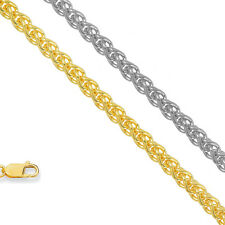 "10k Yellow Or White Gold 1.0 mm Spiga Wheat Chain 16"" 18"""