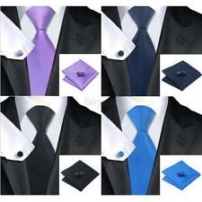 Fashion Men Formal Casual Tie Sets 100% Jacquard Woven Silk Tie Necktie Colorful