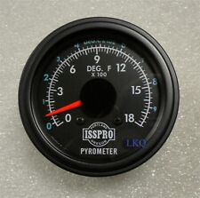 "KENWORTH 3"" BLACK BEZEL PYROMETER KIT W/PROBE PETERBILT FREIGHTLINER MACK R606K"