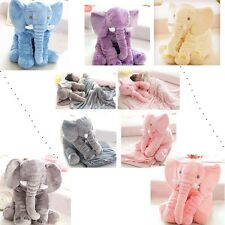 Cute Jumbo Elephant Stuffed Animal Cushion Kids Baby Sleeping Pillow Toy Blanket