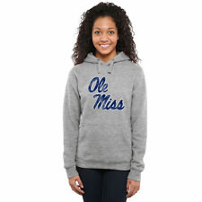 Ole Miss Rebels Women's Classic Primary Pullover Hoodie - Ash - College