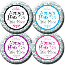 Personalised Pretty Floral Hen Night/Party/Do Badge Mirror Birthday Gift *5for4*