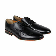 Bostonian Gellar Wing Mens Black Leather Casual Dress Lace Up Oxfords Shoes