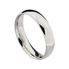5mm Stainless Steel Silver Glossy Mirror Finish Unisex Wedding Band Ring sz 5-13