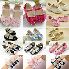 Toddler Baby Girls Soft Kids Bow Velcro Soft Flats Casual Walking Princess Shoes
