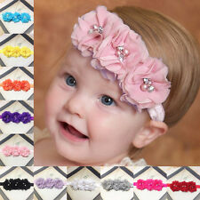 Kids Girls Baby Headband Toddler Bow Flower Hair Band Accessories Headwear Cute