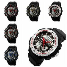 Waterproof Mens Quartz Sports LED Digital Watch Kids Alarm Date Wrist Watches