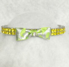 Sugarlicious Pets™ ~Lime Green Leopard~ Rhinestone Dog Pet Cat Safety Collar USA