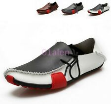 HOT Mens Lace up Loafer Casual Leather Sneaker Slip On Loafer Driving Boat Shoes