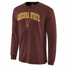 Arizona State Sun Devils Campus Long Sleeve T-Shirt - Maroon - College