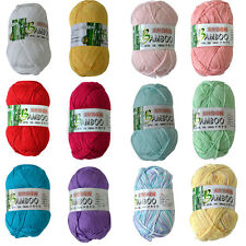 50g / Ball Wholesale Lot Soft Natural Bamboo Cotton Hand Knitting Yarn Fingering