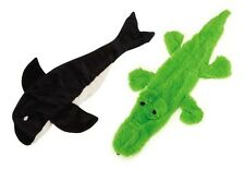 Stuffing Free Dog Toys, Alligator or Orca, 2 Sizes Predator Unstuffies Zanies