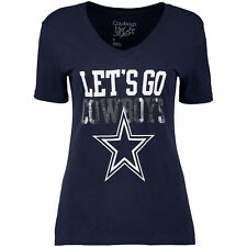 Women's Navy Dallas Cowboys Go Cowboys V-Neck T-Shirt - NFL