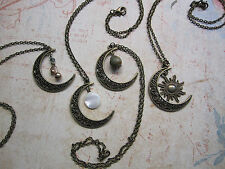 Assorted Crescent Moon Charm Necklaces