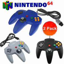 2PCS Wired Game Long Handle Controllers Pad Joystick for Nintendo N64 System New