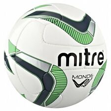 Mitre Monde Football Sports Outdoor Playing 18 Panel Soccer Match Soft Feel Ball