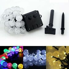 6M 30 LED Solar Powered Ball String Lights Outdoor Garden Patio Party Fairy Lamp