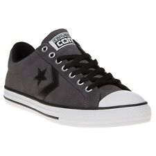 New Boys Converse Grey Star Player Ev Ox Suede Trainers Plimsolls Lace Up