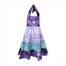 GIRLS GYPSY DRESS - VIOLET PATCHWORK - GLOBAL MAMAS (SIZE 2-4-6-8)