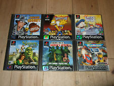 KIDS PS1/PS2 PS3 BUNDLE 6 GAMES SHREK RUGRATS INSPECTOR GADGET SIMPSONS ARMY MEN