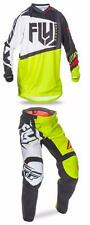 FLY RACING F-16 PANT JERSEY GEAR SET COMBO F16 BLACK/LIME KIDS YOUTH SIZE
