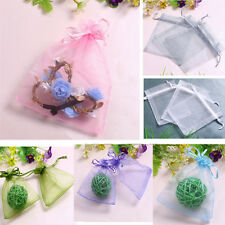 100pcs Organza Sheer Wedding Party Favor Gift Candy Bags Jewelry Pouches Bags