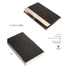 Business Card Holder Personalized Cowhide Metal Skin Card Case excuve CX5 Black