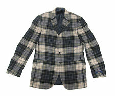 Polo Ralph Lauren Mens Italy Winter Wool Cashmere Plaid Sportcoat Blazer Jacket