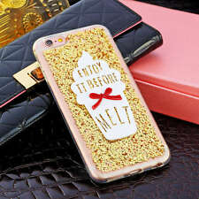 Bling Cute 3D ice cream Glitter soft Case cover for iphone 6 / 6S, 6 / 6s plus