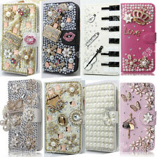 Bling Diamond Crystal PU Leather New Card Wallet Case Stand Cover For ZTE