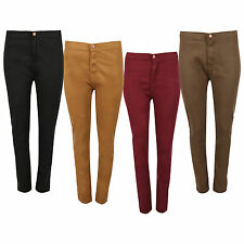 WOMEN'S LADIES HIGH WAISTED SKINNY JEANS JOGGING PANTS 6 8 10 12 14 16 18 20