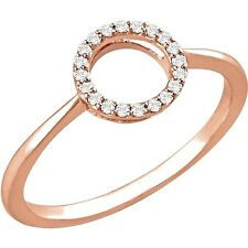 NEW! CIRCLE Round Ring 1/10 ctw DIAMONDS 14kt Rose Gold MSRP:$540