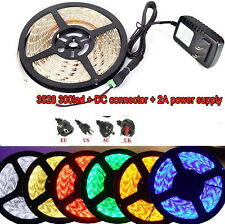5M Waterproof 3528 5050 SMD 300 LED Strip Lights + DC Connector + 12V Power