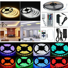 5M 300LED SMD 3528/5050/5630RGB/White Blue Strip Light+Remote+Power Supply