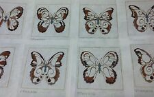 """Needlepoint Canvas Anne Jerlow 8"""" Hand Painted Butterfly Petit Point Butterflies"""