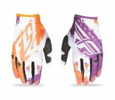 2017 FLY RACING KINETIC MOTO GLOVES MX ATV BMX GLOVE ORANGE/PURPLE MENS SIZE