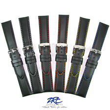 BRAND NEW ZRC Neptune Padded Sports Leather Watch Strap 723 Coloured Stitching
