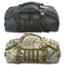 60 LITRE OPERATORS DUFFLE BAG HOLDALL RUCKSACK BTP CAMO BLACK MILITARY STYLE