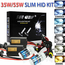 55W HID Xenon AC Quick Start Fast Bright Bulbs Headlight Ballast Conversion Kits
