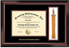 Graduation Diploma Frame Embossed University Frames Tassel Holder Certificate