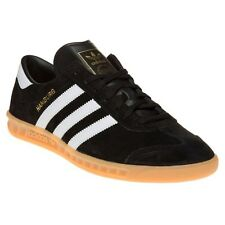 New Mens adidas Black Hamburg Suede Trainers Retro Lace Up
