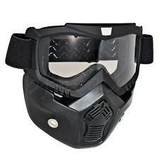 Motorcycle Motocross ATV Anti-Fog Removable Helmet Mask Scooter Off-Road Goggles
