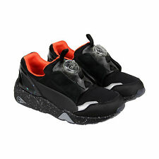 Puma McQ Disc Mens Black Leather Slip On Sneakers Shoes